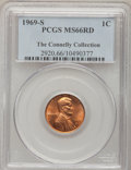 Lincoln Cents: , 1969-S 1C MS66 Red PCGS. Ex:The Connelly Collection. PCGSPopulation (148/8). NGC Census: (91/6). Mintage: 547,309,632.Num...