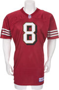 Football Collectibles:Uniforms, 1997 Steve Young Game Worn, Signed San Francisco 49ers Jersey....