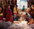 Paintings, PROPERTY OF A PROMINENT TEXAS COLLECTOR. RAY SWANSON (American, 1937-2004). Shearing the Churro Sheep, 1979. Oil on ca...
