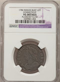 Colonials: , 1786 COPPER Connecticut Copper, Mailed Bust Left--PlanchetFlaw--NGC Details. VG. NGC Census: (0/9). PCGS Population (0/46)...