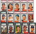 Baseball Cards:Sets, 1953 Topps Baseball Mid to High Grade Complete Set (274) With Over225 Graded Cards! ...