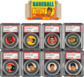 Baseball Cards:Sets, 1956 Topps Pin Collection With Empty Box Featuring Ted Williams (28 total pieces)....