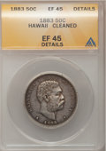Coins of Hawaii: , 1883 50C Hawaii Half Dollar--Cleaned--ANACS. EF40 Details. NGCCensus: (33/274). PCGS Population (56/384). Mintage: 700,000...