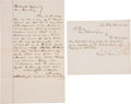 Autographs:Others, 1889-90 Washington Nationals Legal Documents including National League Resignation Letter....