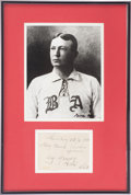 Autographs:Others, 1936 Cy Young Signed Album Page....
