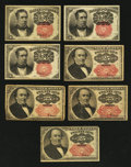 Fractional Currency:Fifth Issue, Fifth Issue Fractionals.. ... (Total: 7 notes)