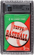 Baseball Cards:Other, 1954 Topps Baseball Unopened Wax Pack GAI NM+ 7.5. ...