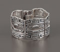 Silver Smalls:Other , A MEXICAN SILVER CUFF. Margot Van Voorhies, Taxco, Mexico, circa1955. Marks: MARGOT DE TAXCO, STERLING MADE IN MEXICO (...