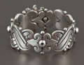 Silver Smalls:Other , A MEXICAN SILVER CUFF . Héctor Aguilar, Taxco, Mexico, circa1948-1962. Marks: 940 HA (conjoined) TAXCO, (eagle9). ...