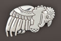 Silver Smalls:Other , A MEXICAN SILVER BROOCH . Héctor Aguilar, Taxco, Mexico, circa1940-1945. Marks: HA (conjoined), TAXCO, 990. 3-1/4x...