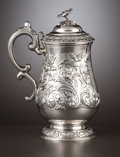 Silver Holloware, Continental:Holloware, AN INDIAN COLONIAL SILVER TANKARD . Charles Nephew & Co.,Calcutta, India, circa 1850. Marks: CHARLES, NEPHEW &CO.. 9 x...