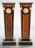 Furniture : French, A PAIR OF FRENCH EBONIZED WOOD, WALNUT, GILT BRONZE AND MARBLEPEDESTALS. Unknown maker, probably Paris, France, circa 1890...(Total: 2 Items)