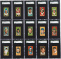 """Baseball Cards:Sets, 1911 T205 Gold Border Complete Set (208 + 1 Variation) With Signed Marquard and Wheat Cards and an Extremely Rare """"Broad Leaf""""..."""