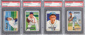 Baseball Cards:Lots, 1951 Bowman Baseball PSA Mint 9 Quartet (4) - All Highest GradeKnown. ...