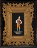 Decorative Arts, Continental, A FRAMED ITALIAN PIETRE DURE PLAQUE . Fratelli Bencini, Florence, Italy, circa 1900. Marks: (inscribed at lower right) Fra...