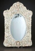 Decorative Arts, French:Other , A FRENCH IVORY MIRROR . Maker unknown, Dieppe, France, circa 1820.Unmarked. 33-1/2 x 22-1/4 inches (85.1 x 56.5 cm). ... (Total: 2Items)