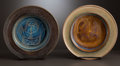 Ceramics & Porcelain, American:Contemporary   (1950 to present)  , A PAIR OF AMERICAN STUDIO CERAMIC BOWLS . Edwin and Mary Scheier, Green Valley, Arizona, circa 1970. Marks: Scheier. 1-3... (Total: 2 Items)