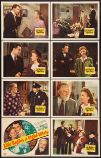 """Life Begins at Eight-Thirty (20th Century Fox, 1942). Lobby Card Set of 8 (11"""" X 14""""). Drama. ... (Total: 8 It..."""