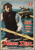 "Movie Posters:Adventure, Moby Dick (Warner Brothers, 1956). Spanish One Sheet (27.25"" X39.5""). Adventure.. ..."