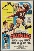 """Movie Posters:Sports, Crazylegs (Republic, 1953). One Sheet (27"""" X 41"""") Style A. Sports.. ..."""