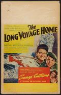 "Movie Posters:Drama, The Long Voyage Home (United Artists, 1940). Window Card (14"" X22""). Drama.. ..."