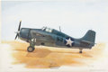 Autographs:Military Figures, Joe Foss Signed Limited Edition Print of His Grumman F-4 Wildcat....