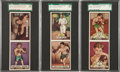 Boxing Cards:General, 1951 Topps Ringside Uncut Panels Trio (3) With Marciano. ...