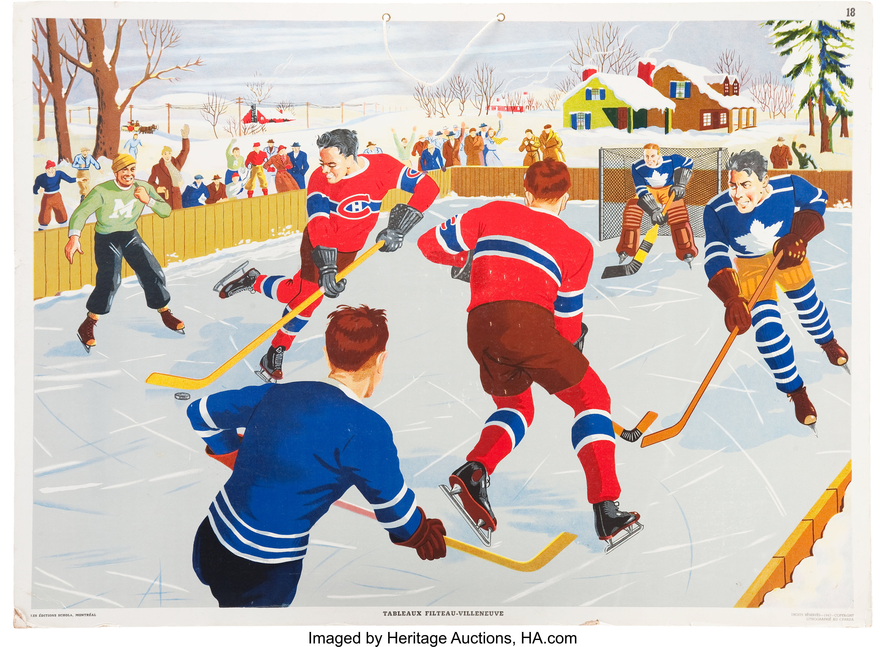 1947 Toronto Maple Leafs And Montreal Canadiens Outdoor Scene Lot 42164 Heritage Auctions