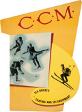 Hockey Collectibles:Others, Circa 1940's C.C.M. Hockey Advertising Broadside. ...