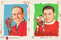 Hockey Collectibles:Others, Circa 1980's Buck Boucher and George Hay Original Mac McDiarmid Art Portraits Lot of 2....