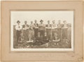 Hockey Collectibles:Photos, 1922 Cupar Baseball Team Cabinet Photograph with Eddie Shore....