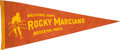 Baseball Collectibles:Others, Circa 1950's Rocky Marciano Pennant....
