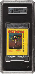 Boxing Cards:General, 1971 Panini Olympia Unopened Pack, With Cassius Clay on Back ofPack, GAI Gem Mint 9.5....