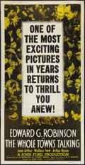 "Movie Posters:Comedy, The Whole Town's Talking (Columbia, R-1949). Three Sheet (41"" X 81""). Comedy.. ..."