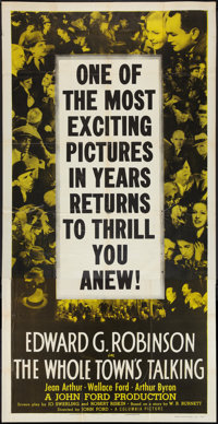 "The Whole Town's Talking (Columbia, R-1949). Three Sheet (41"" X 81""). Comedy"