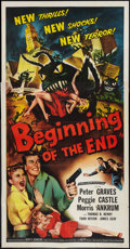 """Movie Posters:Science Fiction, Beginning of the End (Republic, 1957). Three Sheet (41"""" X 81"""").Science Fiction.. ..."""