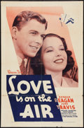 """Movie Posters:Romance, Love is on the Air (Warner Brothers, 1937). One Sheet (27"""" X 41""""). Romance.. ..."""