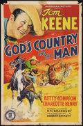 """Movie Posters:Western, God's Country and the Man (Monogram, 1937). One Sheet (27"""" X 41""""). Western.. ..."""