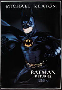 "Batman Returns (Warner Brothers, 1992). Bus Shelter Posters (3) (48"" X 70"") DS Advance Batman, Catwoman, and P..."