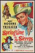 "Movie Posters:Western, Springtime in the Sierras (Republic, 1947). One Sheet (27"" X 41""). Western.. ..."