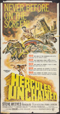 "Movie Posters:Adventure, Hercules Unchained (Warner Brothers, 1960). Three Sheet (40"" X77""). Adventure.. ..."