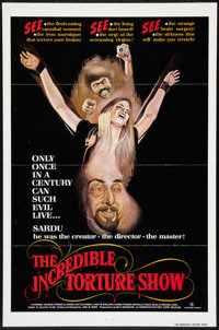 "The Incredible Torture Show (AFDC, 1976). One Sheet (27"" X 41"") Flat Folded. Horror"