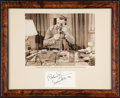 """Movie Posters:Mystery, Roland Winters in """"Docks of New Orleans"""" (Monogram, 1948). Autographed Framed Photo (8"""" X 10""""). Mystery.. ..."""