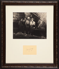 """Charlie Chan in Panama (20th Century Fox, 1940). Framed Victor Sen Young """"Number Two Son"""" Autograph and Photo..."""