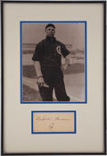 "Autographs:Post Cards, 1940 Mordecai ""Three Finger"" Brown Signed Government Postcard...."