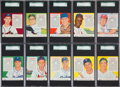 Baseball Cards:Lots, 1955 Red Man Tobacco SGC-Graded Collection (23). ...