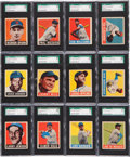 Baseball Cards:Lots, 1948-49 Leaf Baseball SGC-Graded Collection (34). ...