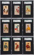 "Non-Sport Cards:Sets, 1889 N22 Allen & Ginter ""Racing Colors"" Complete Set (50) - #1 on the SGC Set Registry!..."