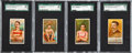 """Baseball Cards:Sets, 1888 N162 Goodwin """"Champions"""" SGC-Graded Group of (4) - All Oarsmen. ..."""
