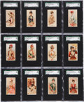 "Non-Sport Cards:Sets, 1888 N18 Allan & Ginter ""Parasol Drills"" Complete Set (50) - #1on the SGC Set Registry!..."